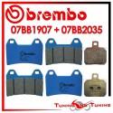 Pastiglie Freno Anteriore E Posteriore Brembo BENELLI TNT 1130 2005 2006 07BB1907 + 07BB2035