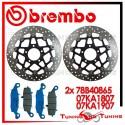 Dischi E Pastiglie Freno Anteriore Brembo SUZUKI DL V STROM 650 2004 2005 78B40865 + 07KA1807 + 07KA1907