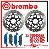 Dischi E Pastiglie Freno Anteriore Brembo SUZUKI DL V STROM 1000 2002 2003 2004 78B40865 + 07KA1807 + 07KA1907