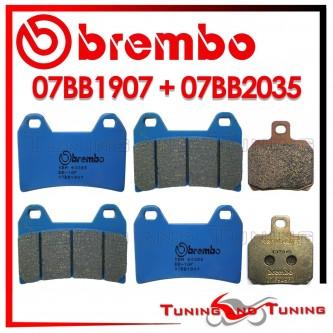 Pastiglie Freno Anteriore E Posteriore Brembo DUCATI MULTISTRADA DS 1100 S 2007 2008 07BB1907 + 07BB2035