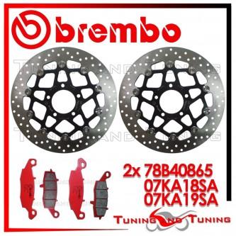 Dischi E Pastiglie Freno Anteriore Brembo SUZUKI DL V STROM 650 2004 2005 78B40865 + 07KA18SA + 07KA19SA