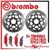 Dischi E Pastiglie Freno Anteriore Brembo SUZUKI DL V STROM 1000 2002 2003 78B40865 + 07KA18SA + 07KA19SA