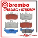 Pastiglie Freno Anteriore E Posteriore Brembo BMW R 850 RT INTEGRAL ABS 2001 2002 07BB26SC + 07BB2809