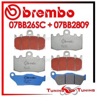 Pastiglie Freno Anteriore E Posteriore Brembo BMW R 1150 RT ABS 2001 2002 07BB26SC + 07BB2809