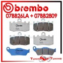 Pastiglie Freno Anteriore E Posteriore Brembo BMW R 1100 S 2001 2002 2003 07BB26LA + 07BB2809