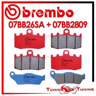 Pastiglie Freno Anteriore E Posteriore Brembo BMW R 850 RT INTEGRAL ABS 2001 2002 07BB26SA + 07BB2809