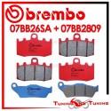 Pastiglie Freno Anteriore E Posteriore Brembo BMW R 1150 RT 2001 2002 07BB26SA + 07BB2809