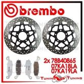 Dischi E Pastiglie Freno Anteriore Brembo SUZUKI DL V STROM 650 2004 2005 78B40865 + 07KA18LA + 07KA19LA