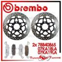 Dischi E Pastiglie Freno Anteriore Brembo SUZUKI DL V STROM 1000 2002 2003 78B40865 + 07KA18LA + 07KA19LA