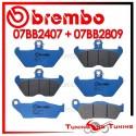 Pastiglie Freno Anteriore E Posteriore Brembo BMW R 850 C 1998 1999 07BB2407 + 07BB2809