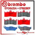 Pastiglie Freno Anteriore E Posteriore Brembo BMW R 850 R 2004 2005 2006 07GR62SA + 07BB2809