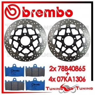 Dischi E Pastiglie Freno Anteriore Brembo SUZUKI SV 1000 2003 2004 78B40865 + 07KA1306