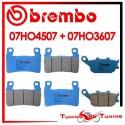 Pastiglie Freno Anteriore E Posteriore Brembo HONDA CBR 929 RR 2000 2001 07HO4507 + 07HO3607