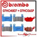 Pastiglie Freno Anteriore E Posteriore Brembo HONDA CBR 600 F 1999 2000 2001 07HO4507 + 07HO36SP