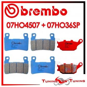 Pastiglie Freno Anteriore E Posteriore Brembo HONDA CBR 929 RR 2000 2001 07HO4507 + 07HO36SP