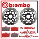 Dischi E Pastiglie Freno Anteriore Brembo SUZUKI SV S 1000 2003 2004 78B40865 + 07KA13SA