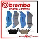 Pastiglie Freno Anteriore E Posteriore Brembo DUCATI GT 1000 TOURING 2009 07BB0306 + 07BB0235