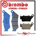 Pastiglie Freno Anteriore E Posteriore Brembo BMW G 650 XCHALLENGE 2007 2008 07BB0306 + 07BB0235