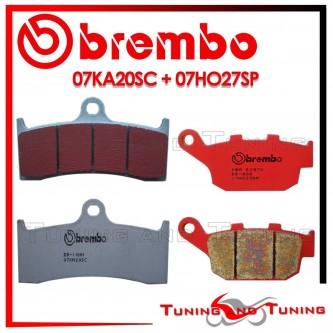 Pastiglie Freno Anteriore E Posteriore Brembo BUELL X1 LIGHTNING 1200 1999 2000 07KA20SC + 07HO27SP