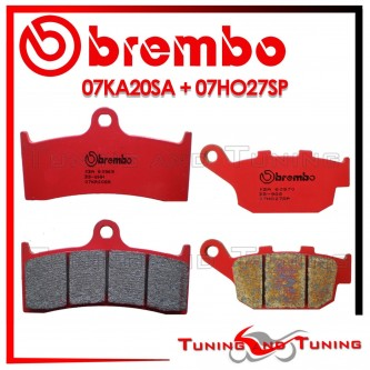 Pastiglie Freno Anteriore E Posteriore Brembo BUELL X1 LIGHTNING 1200 2001 2002 07KA20SA + 07HO27SP