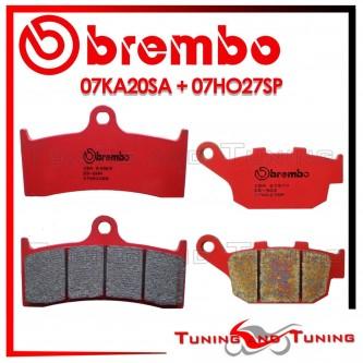 Pastiglie Freno Anteriore E Posteriore Brembo BUELL S3T THUNDERBOLT 1200 1998 1999 07KA20SA + 07HO27SP