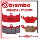 Pastiglie Freno Anteriore E Posteriore Brembo BUELL XB12R 1200 2004 2005 07GR68SA + 07HO27SP