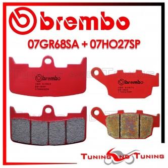 Pastiglie Freno Anteriore E Posteriore Brembo BUELL XB12S LIGHTNING 1200 2003 2004 07GR68SA + 07HO27SP