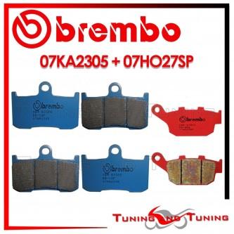 Pastiglie Freno Anteriore E Posteriore Brembo TRIUMPH STREET TRIPLE R 675 2009 2010 07KA2305 + 07HO27SP