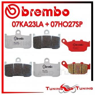 Pastiglie Freno Anteriore E Posteriore Brembo TRIUMPH STREET TRIPLE R 675 2009 2010 07KA23LA + 07HO27SP
