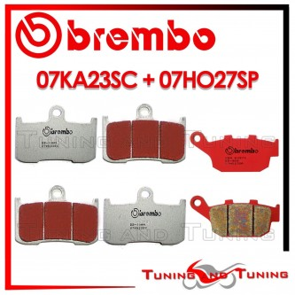 Pastiglie Freno Anteriore E Posteriore Brembo TRIUMPH STREET TRIPLE R 675 2009 2010 07KA23SC + 07HO27SP