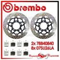 Dischi E Pastiglie Freno Anteriore Brembo KAWASAKI ZX 10R 1000 2004 2005 78B40840 + 07SU26LA