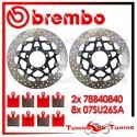 Dischi E Pastiglie Freno Anteriore Brembo KAWASAKI ZX 6R 636 2005 2006 78B40840 + 07SU26SA