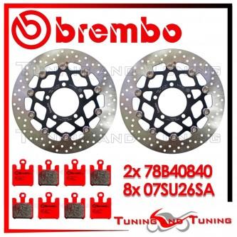 Dischi E Pastiglie Freno Anteriore Brembo KAWASAKI ZX 10R 1000 2004 2005 78B40840 + 07SU26SA