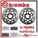 Dischi E Pastiglie Freno Anteriore Brembo SUZUKI SV S 1000 2003 2004 2005 78B40865 + 07KA13LA