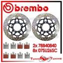 Dischi E Pastiglie Freno Anteriore Brembo KAWASAKI ZX 10R 1000 2004 2005 78B40840 + 07SU26SC