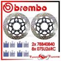 Dischi E Pastiglie Freno Anteriore Brembo KAWASAKI ZX 10R 1000 2004 2005 78B40840 + 07SU26RC