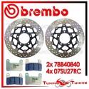 Dischi E Pastiglie Freno Anteriore Brembo KAWASAKI Z 1000 SX 2011 2012 78B40840 + 07SU27RC