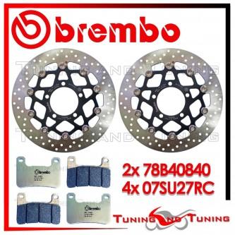 Dischi E Pastiglie Freno Anteriore Brembo KAWASAKI Z 1000 SX ABS 2011 2012 2013 78B40840 + 07SU27RC