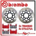 Dischi E Pastiglie Freno Anteriore Brembo KAWASAKI Z 1000 2010 2011 2012 78B40840 + 07SU27SA