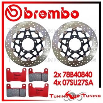 Dischi E Pastiglie Freno Anteriore Brembo KAWASAKI Z 1000 SX ABS 2011 2012 78B40840 + 07SU27SA