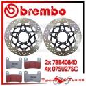 Dischi E Pastiglie Freno Anteriore Brembo KAWASAKI Z 1000 SX ABS 2011 2012 2013 78B40840 + 07SU27SC