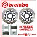 Dischi E Pastiglie Freno Anteriore Brembo KAWASAKI Z 1000 SX 2011 78B40840 + 07SU27LA