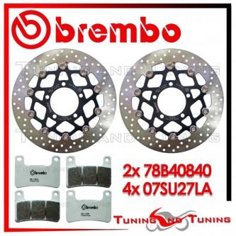 Dischi E Pastiglie Freno Anteriore Brembo KAWASAKI Z 1000 SX ABS 2011 2012 2013 78B40840 + 07SU27LA