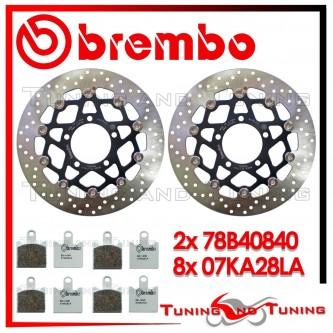 Dischi E Pastiglie Freno Anteriore Brembo KAWASAKI Z 750 R 2011 2012 78B40840 + 07KA28LA