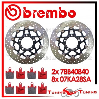 Dischi E Pastiglie Freno Anteriore Brembo KAWASAKI Z 1000 2007 2008 2009 78B40840 + 07KA28SA