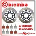 Dischi E Pastiglie Freno Anteriore Brembo KAWASAKI Z 750 R 2011 2012 78B40840 + 07KA28SC