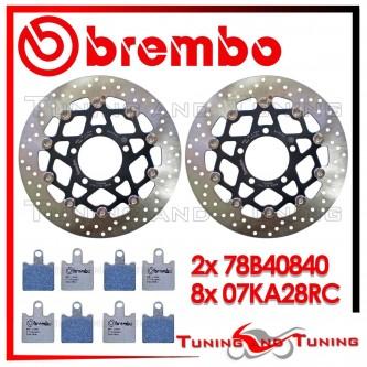 Dischi E Pastiglie Freno Anteriore Brembo KAWASAKI Z 750 R 2011 2012 78B40840 + 07KA28RC