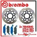 Dischi E Pastiglie Freno Anteriore Brembo KAWASAKI ER6F 650 2006 2007 2008 78B40840 + 07KA1807 + 07KA1907