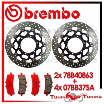 Dischi E Pastiglie Freno Anteriore Brembo SUZUKI GSX-R 750 2011 2012 78B40863 + 07BB37SA