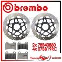 Dischi E Pastiglie Freno Anteriore Brembo DUCATI MONSTER 1100 S 2009 78B40880 + 07BB19RC
